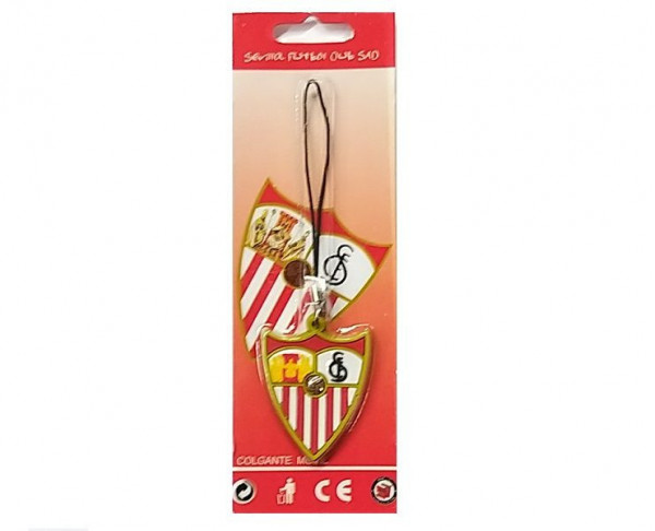 Colgante de caucho con relieve escudo Sevilla FC