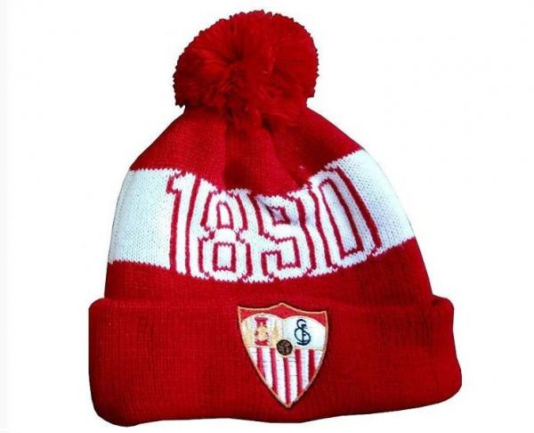 Gorro de lana infantil con borla Sevilla FC
