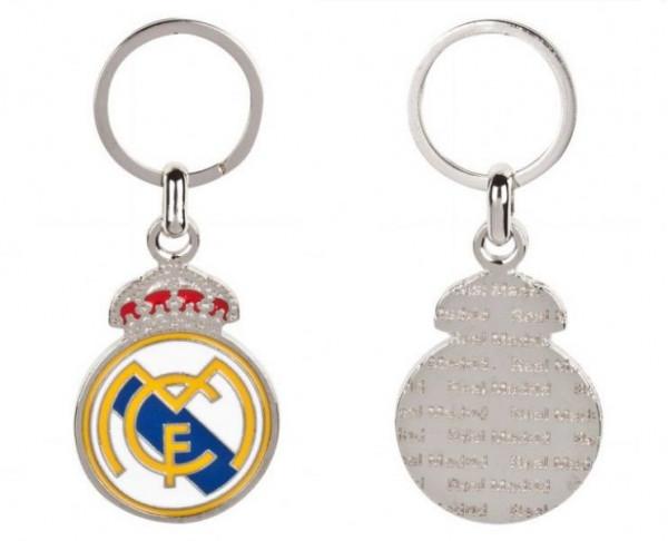 Llavero metalico del Real Madrid escudo clásico