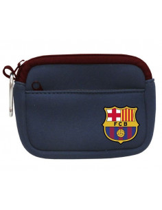 Monedero rectangular FC Barcelona con doble bolsillo