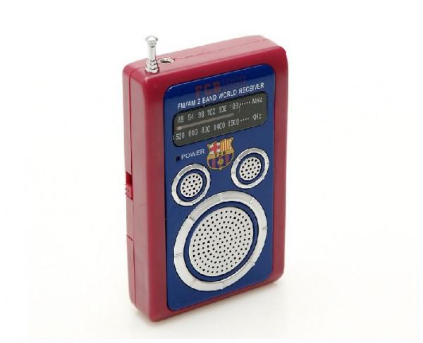 Aparato radio de bolsillo del FC Barcelona azulgrana