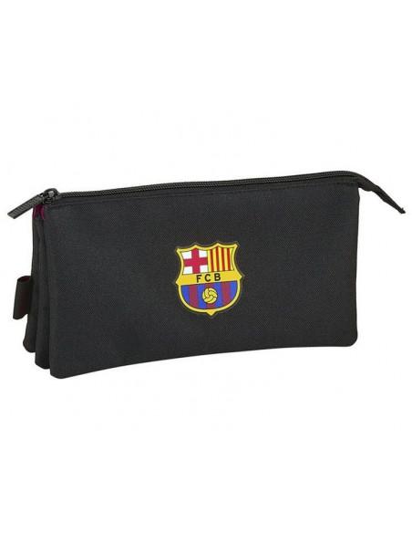 Estuche grande tres departamentos FC Barcelona Black