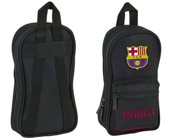Plumier mini mochila FC Barcelona cuatro estuches llenos