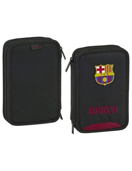 Estuche dos pisos 34 piezas FC Barcelona Black 2020