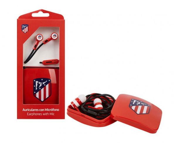 Auriculares stéreo Atlético de Madrid con micrófono