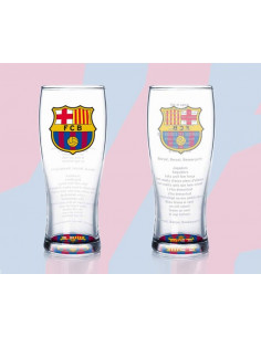 Vaso grande alto de cristal FC Barcelona