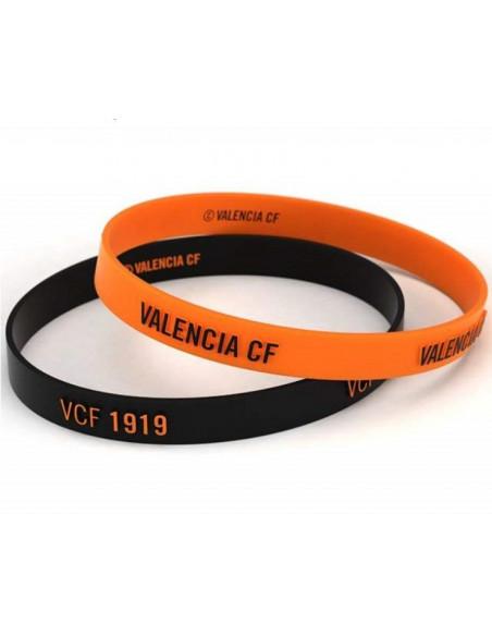Pack dos pulseras de silicona Valencia CF infantil