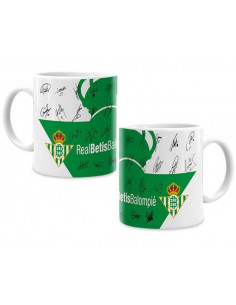 Taza de porcelana con firmas jugadores Real Betis