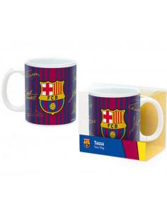 Taza de porcelana con firmas jugadores FC Barcelona