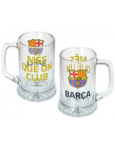 Jarrra de cristal para cerveza FC Barcelona