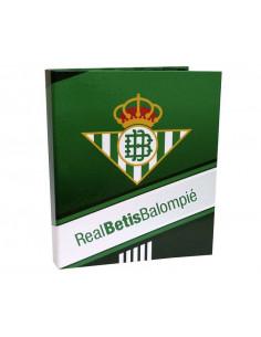 Carpeta tamaño folio con cuatro anillas Real Betis