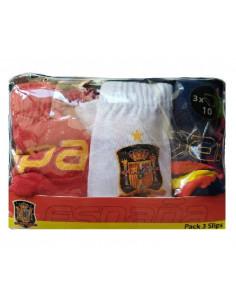 Pack 3 slips infantiles Selección Española de fútbol