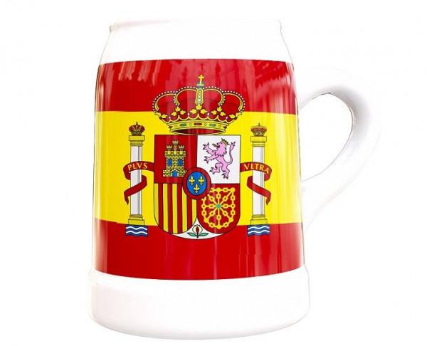 Jarra de porcelana bandera de España