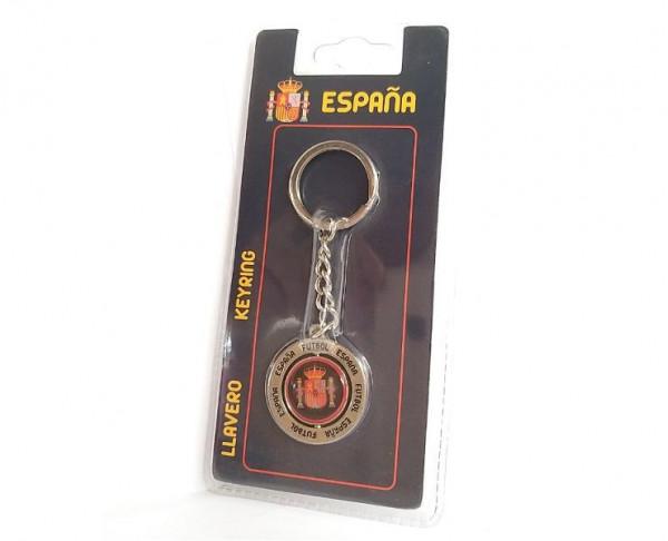 Llavero giratorio circular España fútbol
