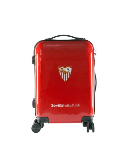 Maleta de cabina ABS Sevilla FC de color rojo
