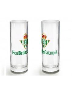Chupito de cristal Real Betis Balompié alto y estrecho