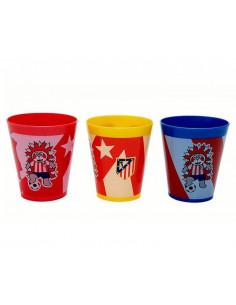 Conjunto 3 vasos de plástico Atlético de Madrid Indi