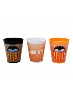 Pack 3 vasos infantiles de plástico Valencia CF