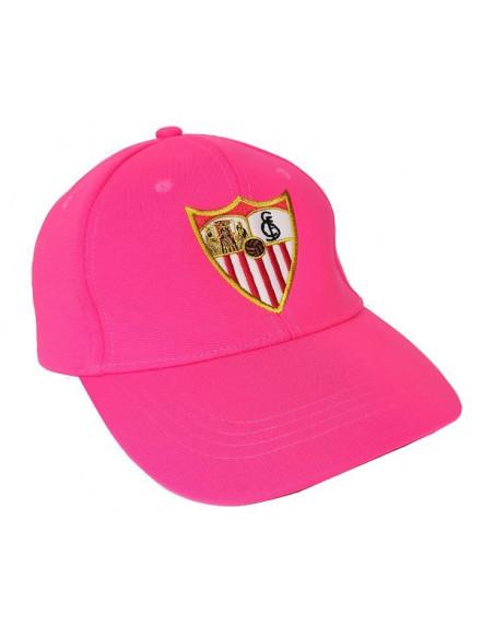 Gorra rosa juvenil y adulto Sevilla FC