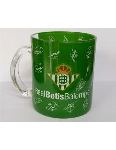 Taza de cristal con firmas de jugadores Real Betis