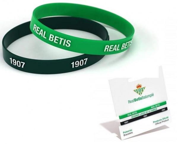 Conjunto dos pulseras de silicona Real Betis Junior