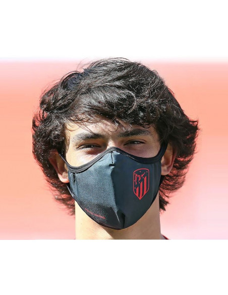 Mascarilla reutilizable Atlético de Madrid adulto black