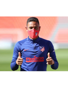 Mascarilla reutilizable Atlético de Madrid adulto roja