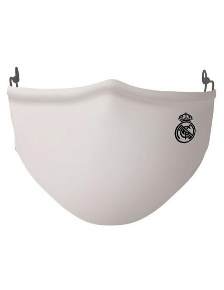 Mascarilla adulto Real Madrid blanca reutilizable 40 lavados