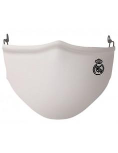 Mascarilla infantil Real Madrid blanca reutilizable 40 lavados