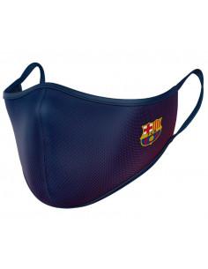 Mascarilla infantil FC Barcelona reutilizable 40 lavados