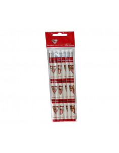 Conjunto seis lapiceros con goma de borrar Sevilla FC