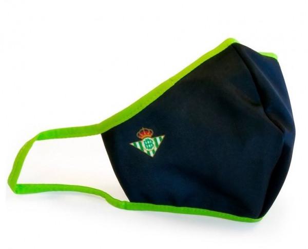 Mascarilla reutilizable negra y verde...