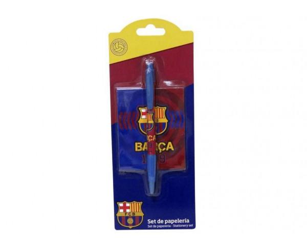 Pack de regalo libreta y bolígrafo FC Barcelona
