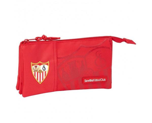 Estuche portatodo triple Sevilla FC