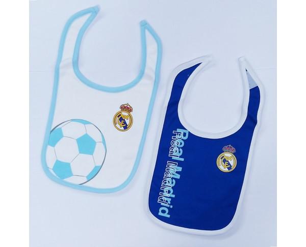 Conjunto de dos baberos del Real Madrid
