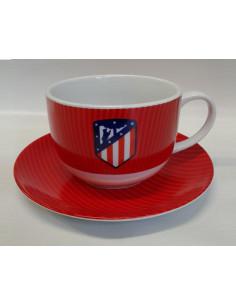 Taza y plato de desayuno Atletico de Madrid