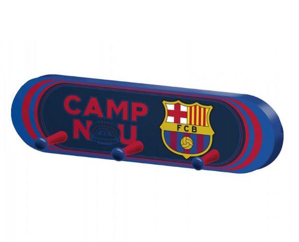 Perchero de pared de madera del FC Barcelona
