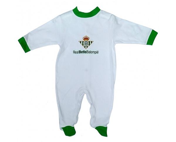 Pijama pelele Real Betis blanco y...