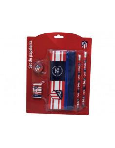 Set de regalo estuche y accesorios escolares Atlético Madrid