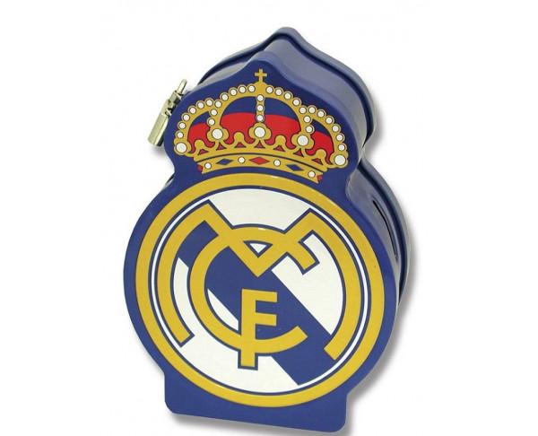 Hucha metálica con forma escudo Real...