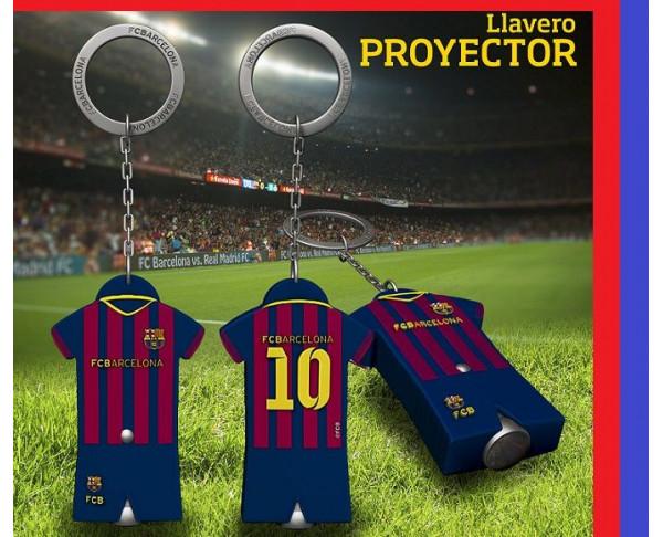 Llavero del FC Barcelona proyector escudo