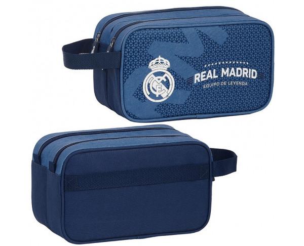Bolsa de aseo Real Madrid azul con...