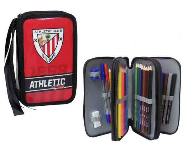 Estuche escolar tres pisos con accesorios Athletic Club