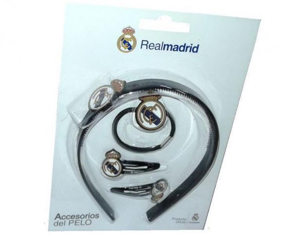 Conjunto infantl accesorios para el pelo Real Madrid