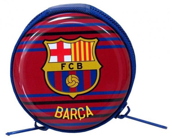 Monedero FC Barcelona metálico azulgrana con cremallera