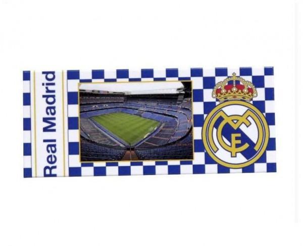 Imán Real Madrid Estadio Santiago Bernabéu con escudo