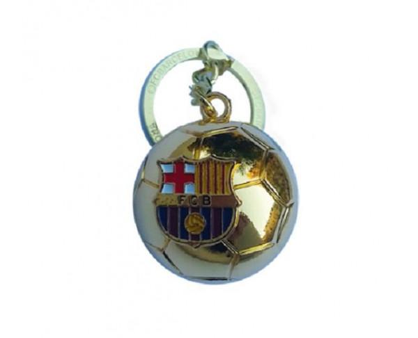 Llavero metálico balón de oro FC Barcelona