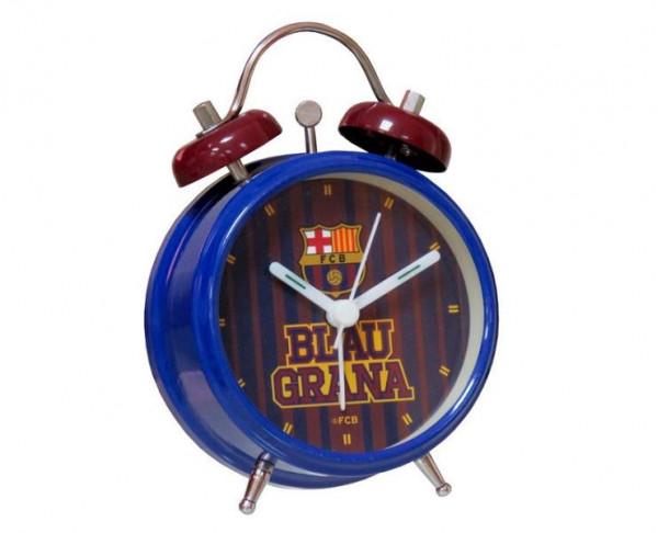 Reloj despertador metálico del FC Barcelona