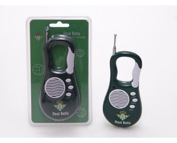Radio con linterna del Real Betis