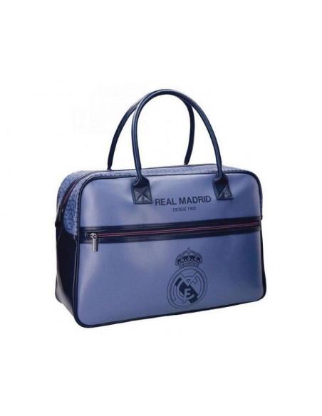 Bolsa de viaje Real Madrid Champions de polipiel azul